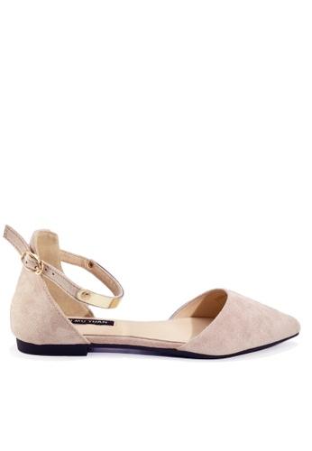 Twenty Eight Shoes beige Winkle Ankle Strap Pointed Low Heel Shoes VL916814 7AA62SH2CEBC3EGS_1