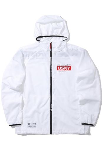 :CHOCOOLATE white USNY zip jacket 3111DAAB3514FCGS_1