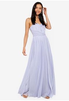 278ded2bee1 Lipsy blue Cornflower Blue Bella Maxi Dress 9D367AAE350887GS 1