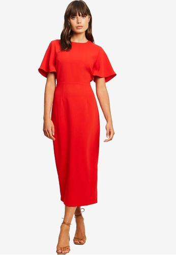 Tussah 紅色 Belle 袖 洋裝 8C91EAAF8F833DGS_1