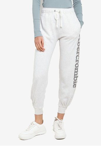 Abercrombie & Fitch grey Exploded Logo Classic Pants 86111AA92311FAGS_1