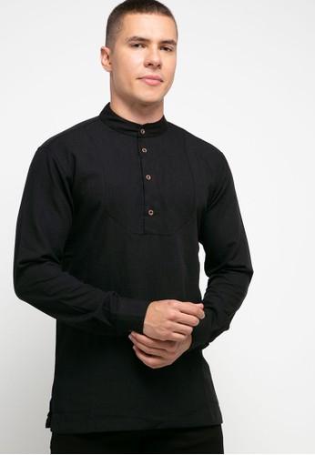 Jimmy Martin black Long Sleeve Casual Shirt E82D4AA23C9C75GS_1