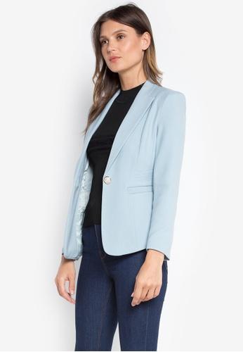 Well Suited blue Slim Fit Woolen Blazer 6D2F7AAD680F46GS_1