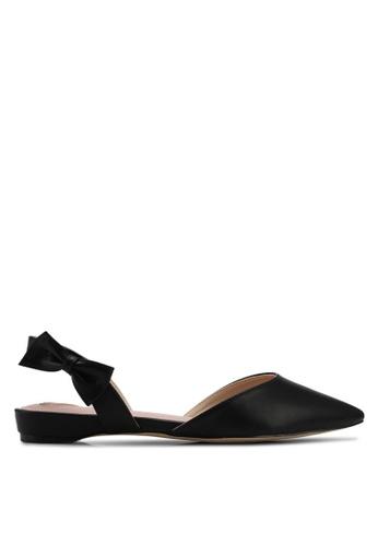 Velvet black Bow Detail Ballerina 7C15FSH57592F2GS_1