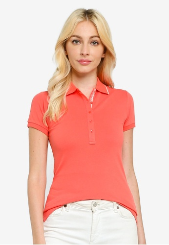 Sacoor Brothers pink Women's Sports Slim Fit Polo Piqué 0E8BBAA87F3DBEGS_1
