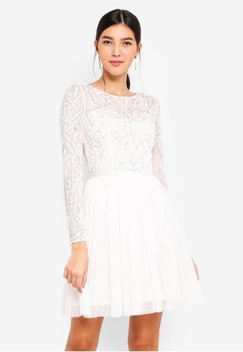 c1d878f0461 Shop Little Mistress White Prom Dress Online on ZALORA Philippines