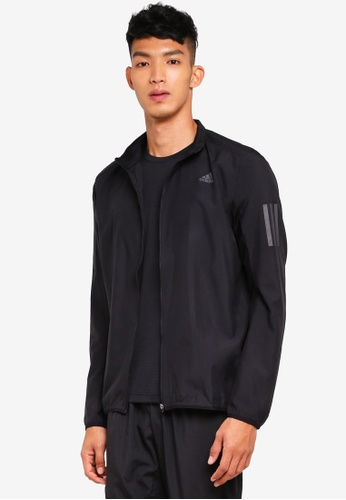 adidas black adidas response jacket 4E488AAF830EB2GS_1
