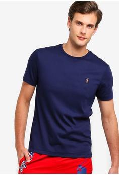 5414fc67 Polo Ralph Lauren navy Short Sleeve Crew Neck Slim T-Shirt  45E61AA31D805AGS_1