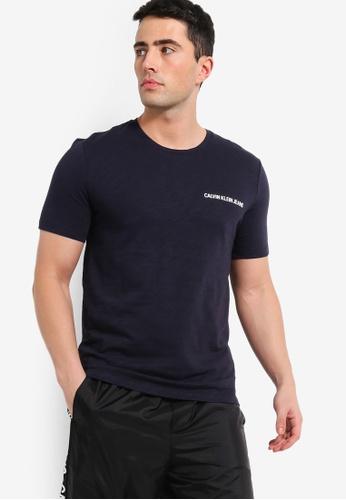 640dc27ba1ce Calvin Klein navy Chest Institutional Regular Short Sleeve - Calvin Klein  Jeans 57CD6AAF4C02D8GS_1. CLICK TO ZOOM