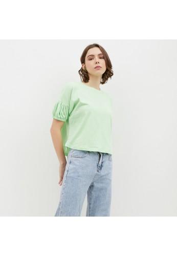 Nona green Basic Tee Short Sleeve Mint 9B9A1AA9C2D722GS_1