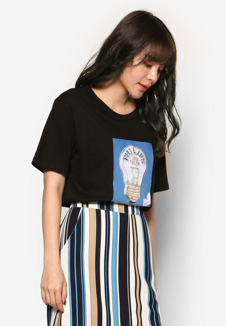 Korean Fashion Light Print Tee