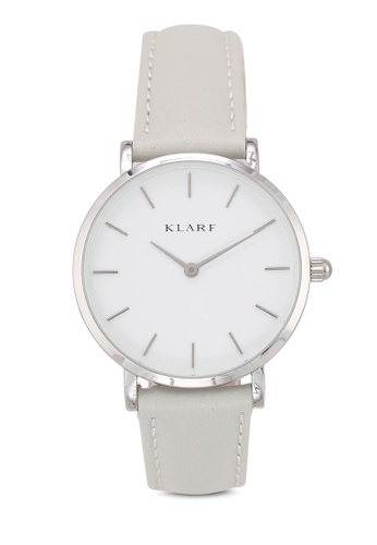 Klarf grey Petite Watch With Leather Bracelet 1C172AC1B78621GS_1