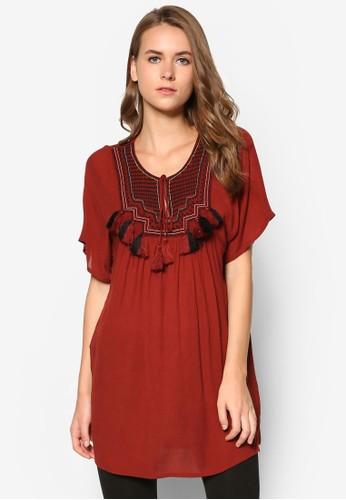 繡花zalora是哪裡的牌子流蘇連身裙, 服飾, 服飾
