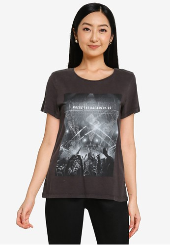 Noisy May black Nate Festival T-Shirt 4F50FAA1A3FC7FGS_1