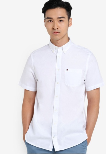 Tommy Hilfiger white AP SUMMER OXFORD S/S CF4 TO729AA60LVVSG_1