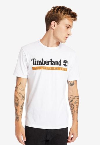 Timberland white Established 1973 Logo T-Shirt E92D8AAE65E123GS_1