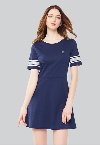 FILA silver and navy Special Line Cotton Dress 57800AA603176CGS_1