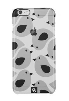 Casey Crazy - Birds In Grey Semi-Transparent Hard Case for iPhone 6