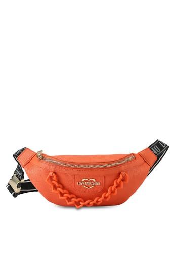 Love Moschino orange Chain Snake Print Waist Pouch 408B6AC0958000GS_1