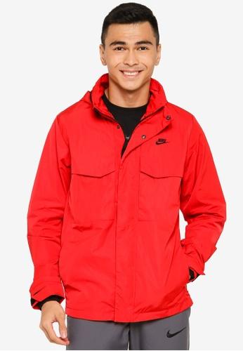 Nike red As M Nsw M65 Jacket 712E4AA9486F48GS_1