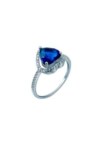 ADORA blue 925 Silver Pear Cut Ring 381C6AC7819199GS_1