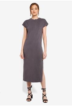 8e8d8d7f91afc TOPSHOP black Acid Wash Midi Dress 7454FAA0670C6EGS_1