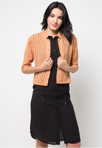 (X) S.M.L black and brown Abaigail Dress XS330AA83BSAID_1