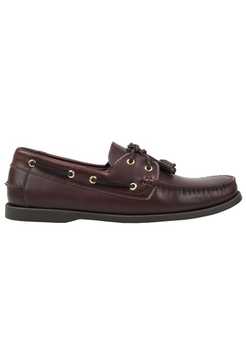 Tomaz red Tomaz C999A Leather Boat Shoes (Wine) A8539SH723E437GS_1