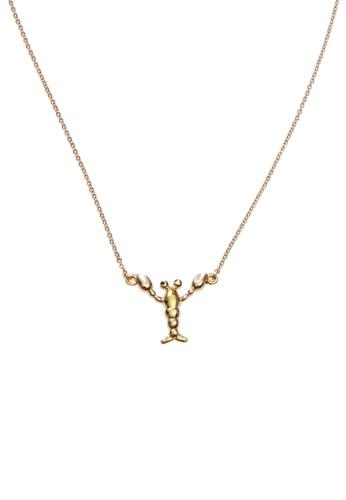 My Flash Trash gold Metal Lobster Necklace A7685ACDDD4297GS_1