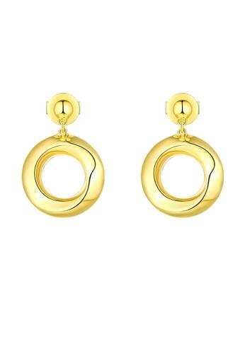 Vedantti 黃色 Vedantti 18K 簡約大氣-黃金耳環 5E1FDACEF2371FGS_1
