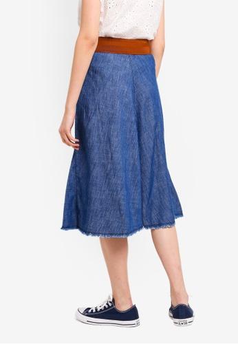 04d97c7bd6 Shop ESPRIT Denim Midi Skirt Online on ZALORA Philippines