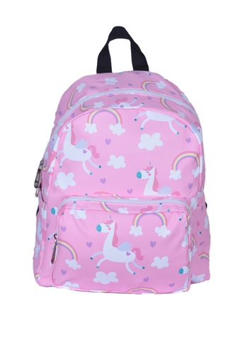 Adkidz pink Adkidz unicorn printed backpack CB568KC6C995E3GS_1
