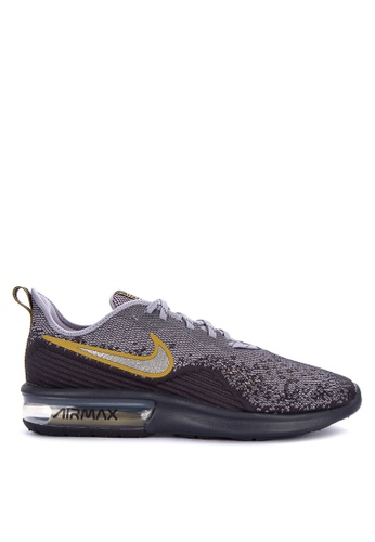 Nike grey Nike Air Max Sequent 4 Shoes 581B9SH31D59B3GS_1