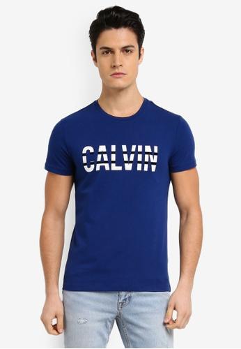 Calvin Klein blue Calvin 1 Crew Neck T-Shirt - Calvin Klein Jeans EC960AAA3ACF33GS_1