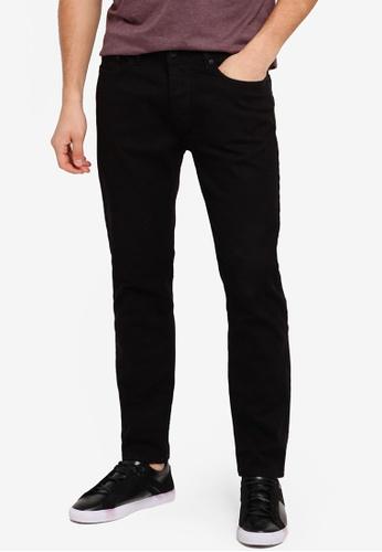 Burton Menswear London 黑色 Black Vintage Slim Fit Jeans BU964AA0T1GOMY_1
