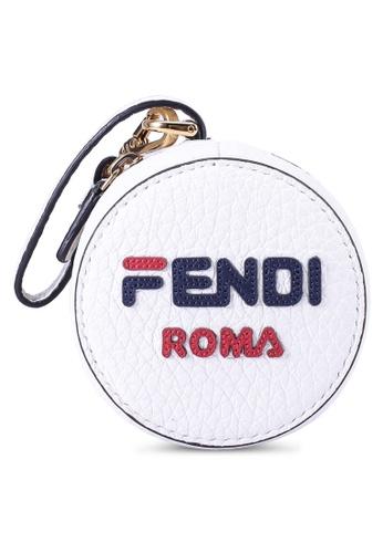 Fendi white Fendi Mania Charm Pouch (zt) 9D9DDAC18CFCFFGS_1