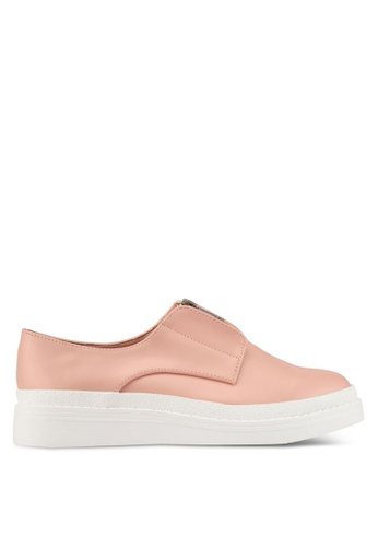 Something Borrowed pink Zipper Slip Ons 44831ZZ1914953GS_1