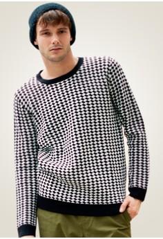 Simply Checks Diagonal Sweatshirt