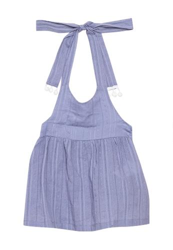 Andi + Olivia blue Tie Back Tunic Top B01B9KA08FD712GS_1