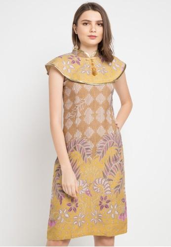 Batik Putra Bengawan yellow and multi Dress Db P Okta Leaf Yl Pb 1BD63AA6234AD9GS_1