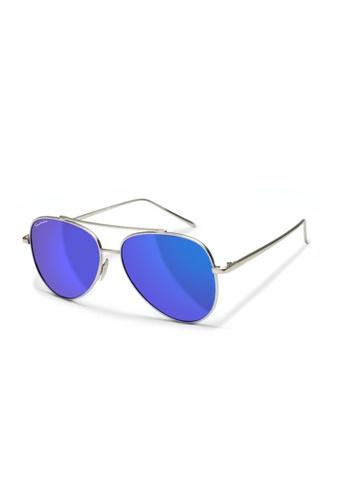 Sensolatino Eyewear grey and yellow and green and purple Sensolatino Series Aviatore Small With Blue Polarized Lenses 92CCBGL0762236GS_1