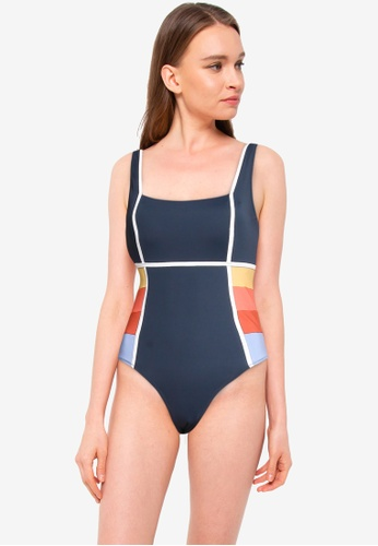 Rip Curl navy Golden State Good Swimsuit 848FCUSB04BC0DGS_1