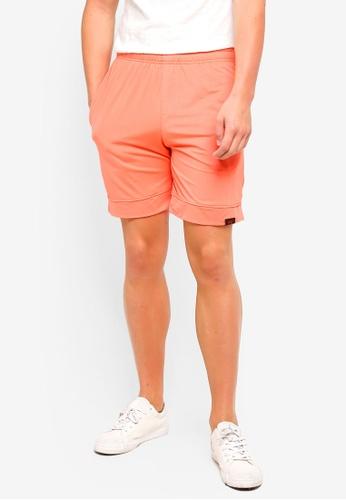 UniqTee 橘色 Jogging Style 百慕達短褲 85CADAA8B9F6DDGS_1