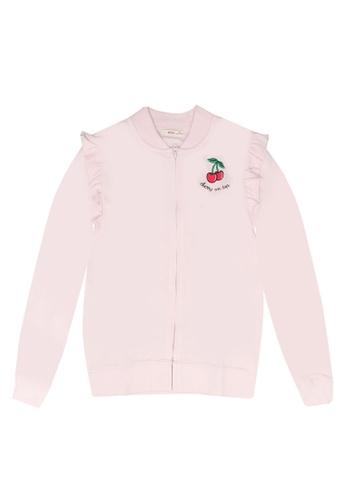FOX Kids & Baby pink Patch Bomber Jacket 5CB49KAAED051CGS_1
