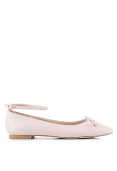 b3e6f765ce3 Velvet beige Ankle Strap Ballet Flats AE207SHF71C7B2GS 1