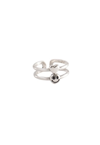 A-Excellence silver Premium S925 Sliver Geometric Ring D3AE4ACCB045F5GS_1