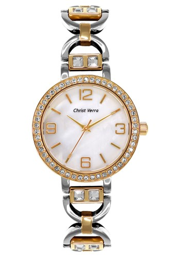 Christ Verra gold and silver Fashion Women's Watches CV 71018L-13 WHT A995AAC2CFCAECGS_1