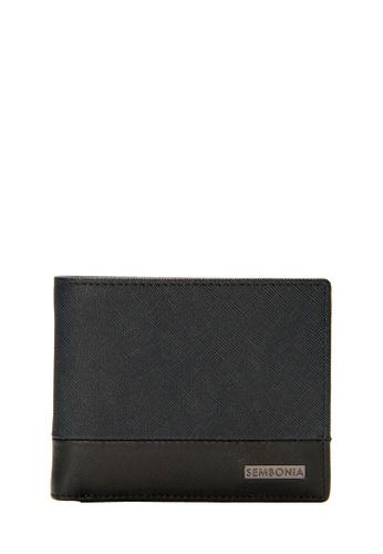 SEMBONIA black SEMBONIA Men Genuine Leather Wallet (Black) 94215AC60FEC8BGS_1