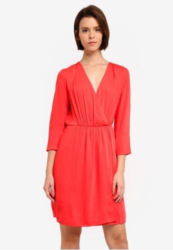 Vero Moda red Destiny Short Wrap Dress 085A9AA036947BGS_1