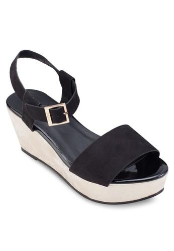 雙色繞踝esprit台北門市楔型鞋, 女鞋, 鞋